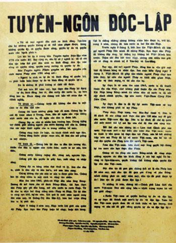 Kết quả hình ảnh cho Tuyên ngôn Độc Lập 1945