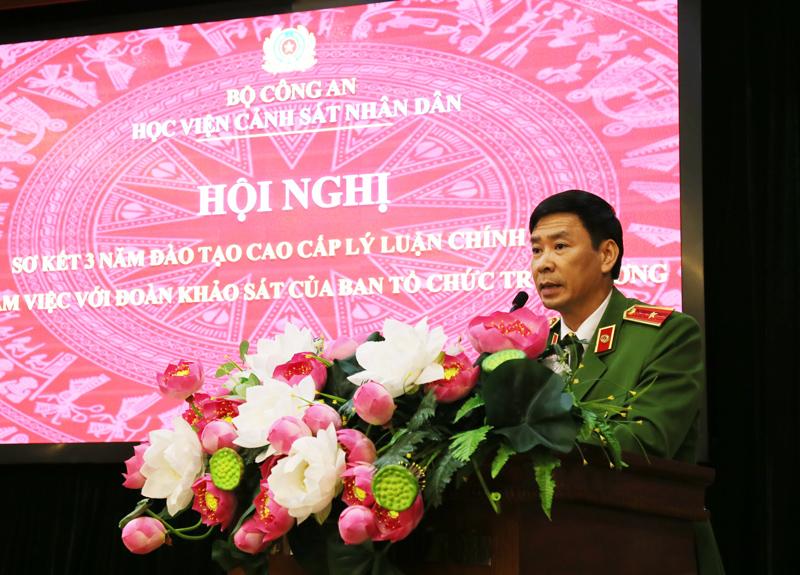 Hội nghị sơ kết 03 năm đào tạo cao cấp lý luận chính trị và làm việc với Đoàn khảo sát của Ban Tổ chức Trung ương