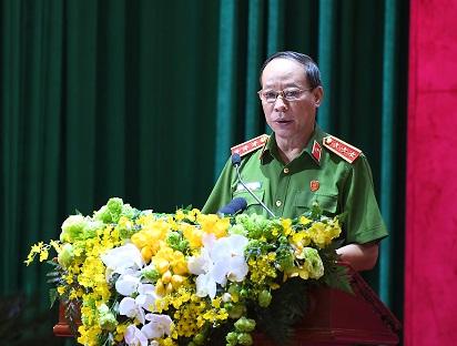 Thứ trưởng Lê Quý Vương quán triệt Nghị quyết của Đảng ủy Công an Trung ương về công tác năm 2021 và những năm tiếp theo.