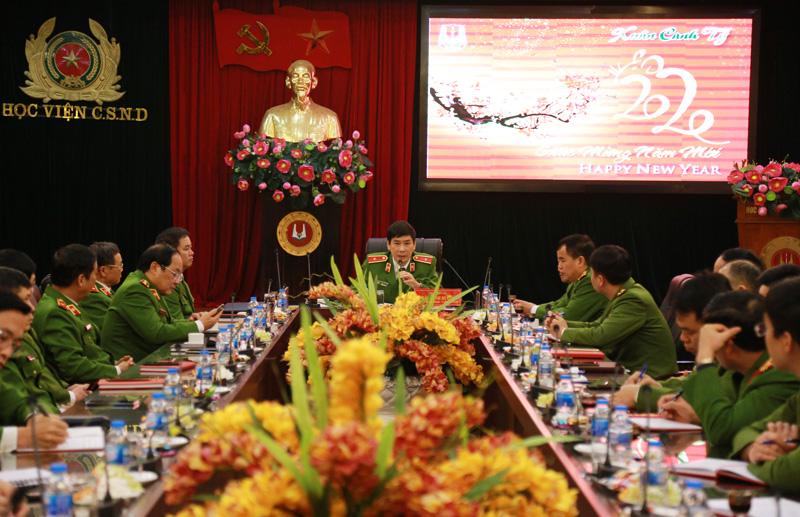 Học viện CSND tổ chức gặp mặt, chúc Tết cán bộ chủ chốt đầu xuân Canh Tý và quán triệt thực hiện Kế hoạch phòng, chống dịch nCoV