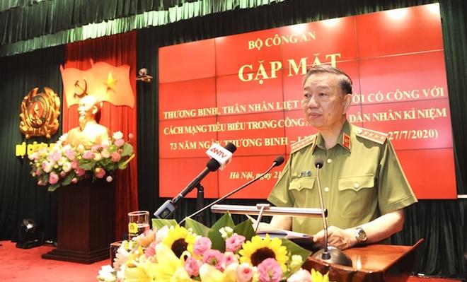 Bộ trưởng Tô Lâm phát biểu tại buổi gặp mặt.