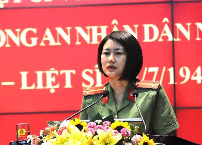 Chị Hoàng Anh Lan, vợ liệt sĩ Nông Khắc Mẫn.