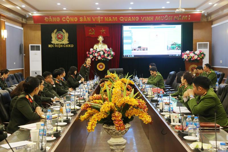 Tọa đàm, trao đổi kinh nghiệm giữa Học viện CSND và Học viện Quốc tế